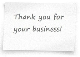 Thank you for your business 1